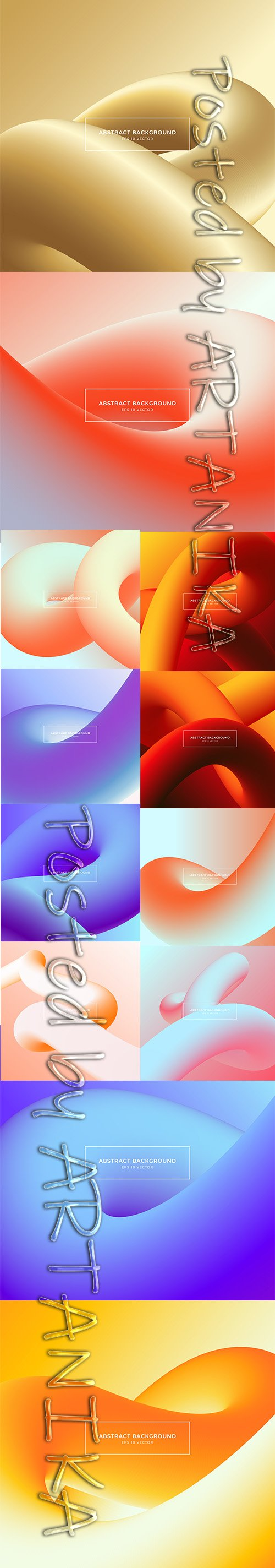 Abstract Background Color Gradient Shapes Set