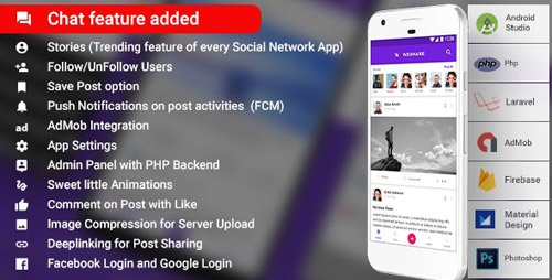 CodeCanyon - Social Media Android App with Admin | PHP Backend | WeShare v2.0 - 21911922
