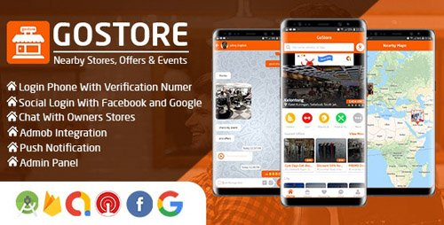 CodeCanyon - GoStore v1.0 - Nearby Stores, Offers & Events With Admin Panel - 23738113