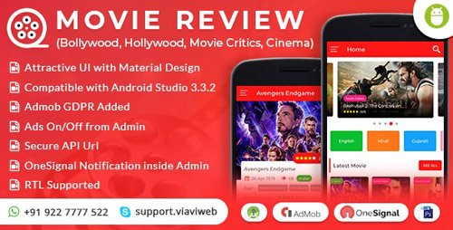 CodeCanyon - Android Movie Review App  (Bollywood, Hollywood, Movie Critics, Cinema) (Update: 17 May 19) - 13077948