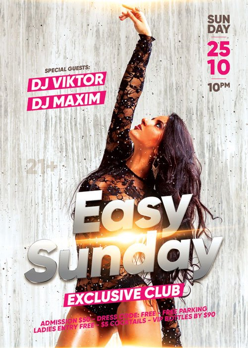 Easy sunday - Premium flyer psd template