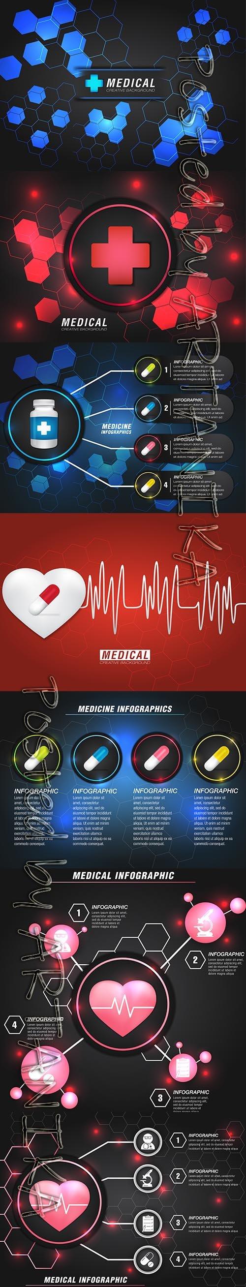 Modern Medical Infographic Template Set