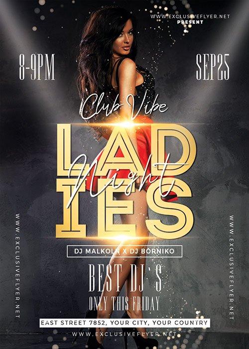 Ladies night flyer - Premium flyer psd template