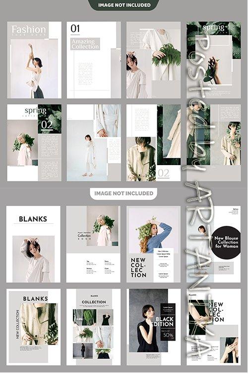 Fashion Lookbook Template Set