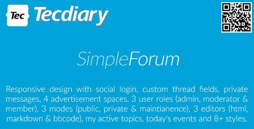 CodeCanyon - Simple Forum v1.3.7 - Responsive Bulletin Board - 13289844 - NULLED