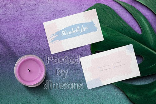 Brush Business Card Template