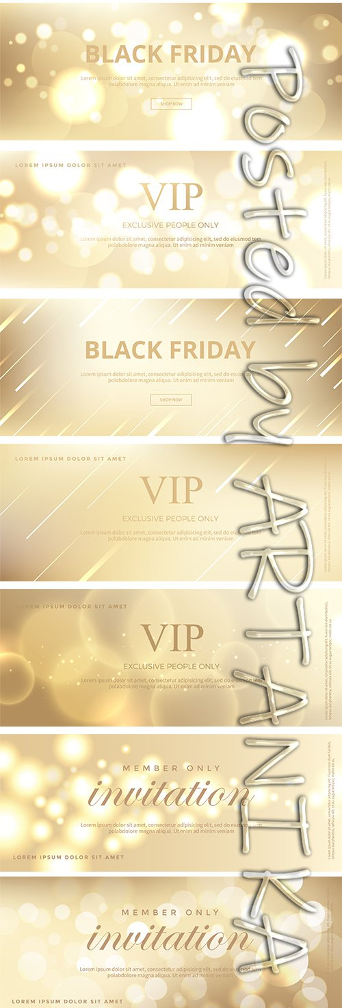 Luxury Golden Invitation Card Pack