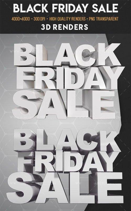Black Friday Sale 3D Render Templates