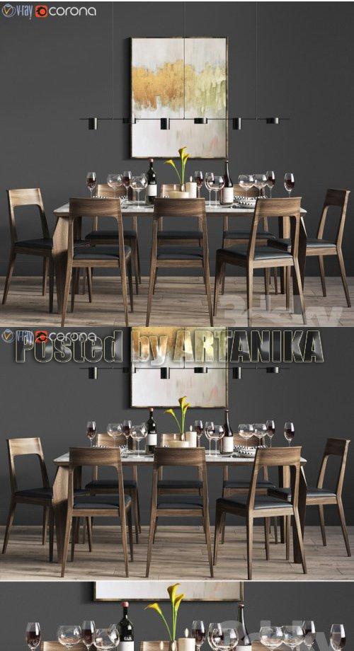Dinning set 3D Model