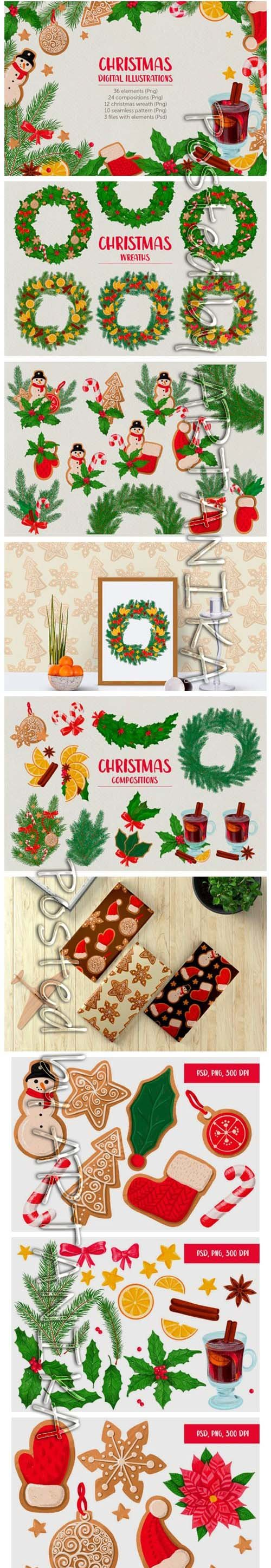 Christmas Digital Illustration Set 2149984