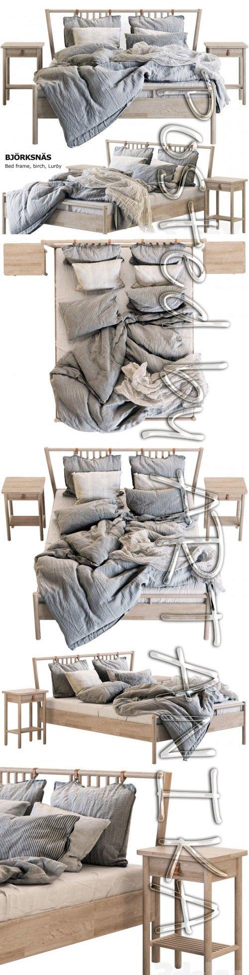 Bed BJORKSNAS Ikea / Ikea 3D model