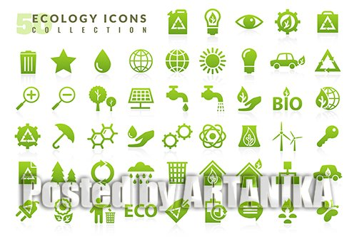 Ecology Flat Icons Collections