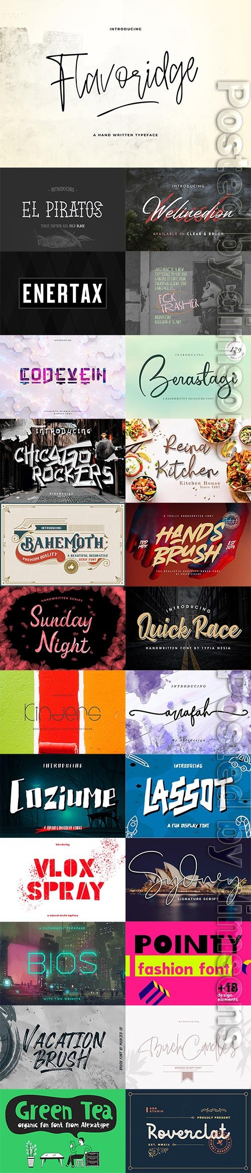25 Fresh Font Bundle 2019 Vol 12