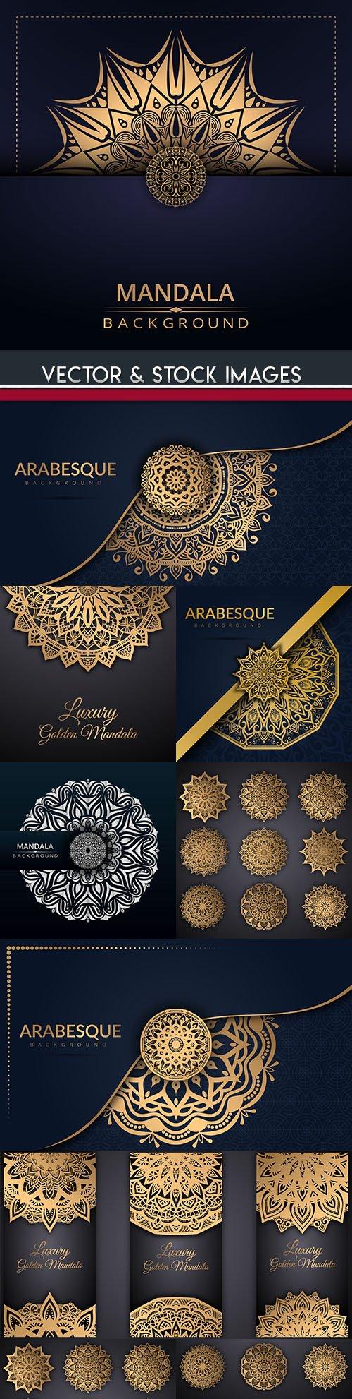 Mandala gold decorative ornament design background