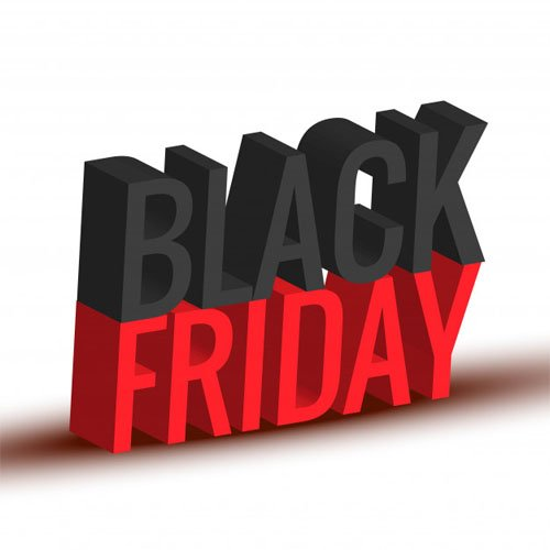 Black Friday 3D Text Design in Vector