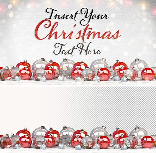Christmas Card Mockup with Ornaments 302280216 PSDT