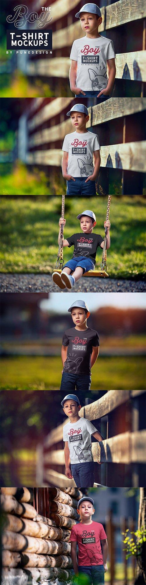 Boy T-Shirt Mock-Up Set PSD