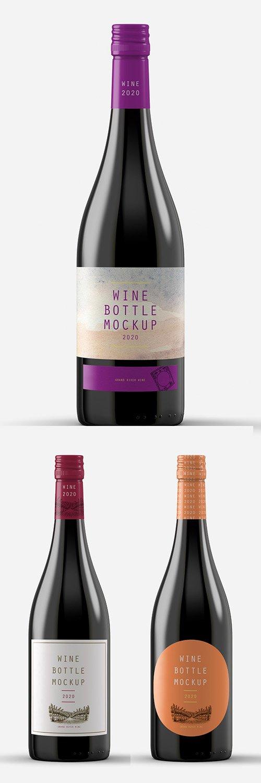 Wine Bottle Mockup 305773106 PSDT