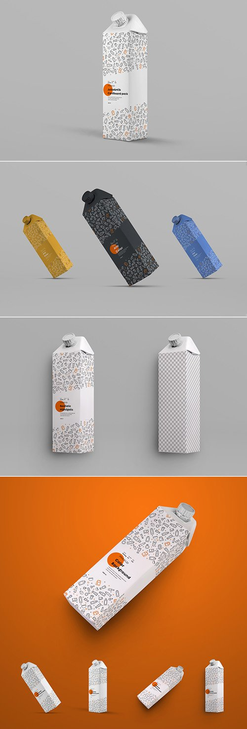 4 Square Drink Carton Mockups 305759271 PSDT