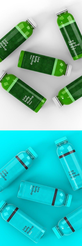 5 Plastic Bottle Mockups 305772498 PSDT