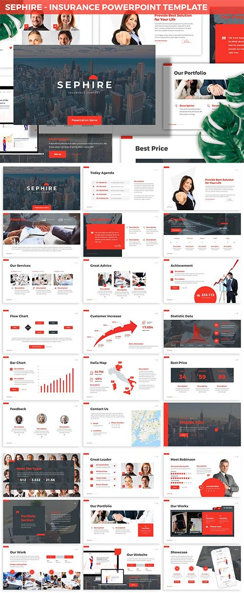 Sephire - Insurance Powerpoint Template