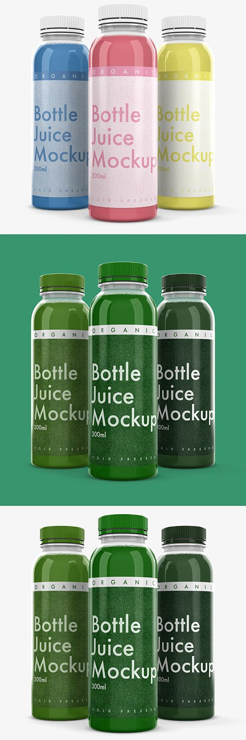 3 Plastic Bottle Mockups 305773215 PSDT