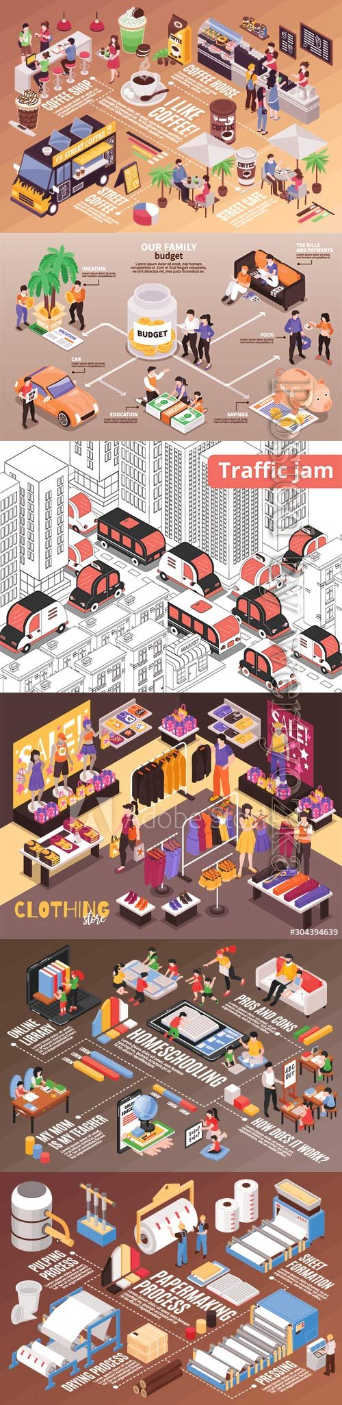 Flat isometric vector 3D concept illustration # 84