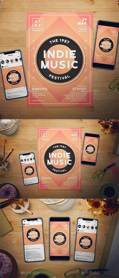 Indie Music Flyer Set 23050602
