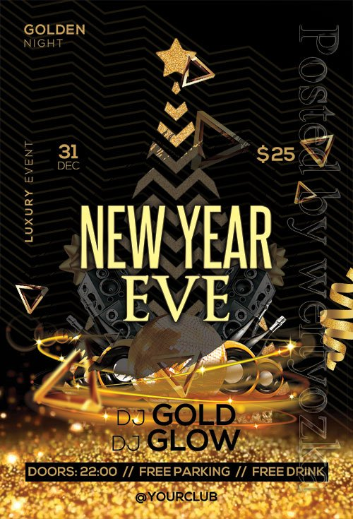 New Year Eve - Premium flyer psd template