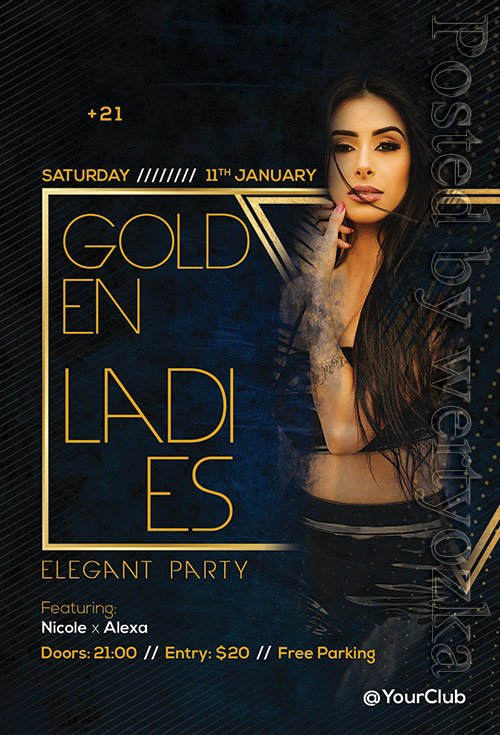Golden Ladies - Premium flyer psd template