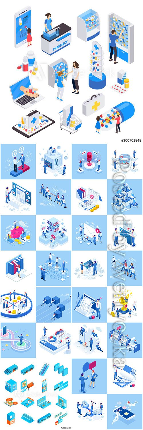 Flat isometric vector 3D concept illustration # 90