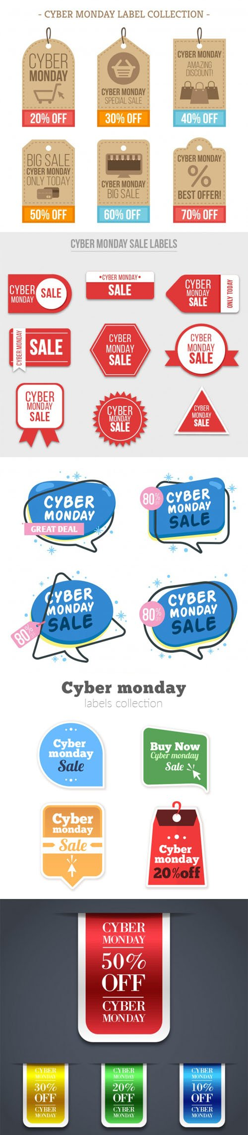 Cyber Monday Sales Elements Collection
