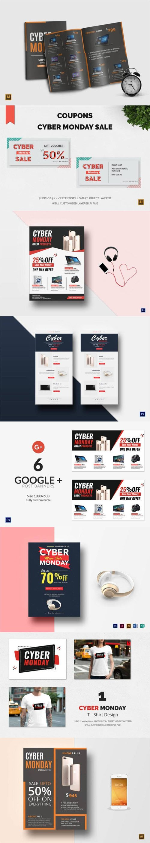 15 Designs and Templates You Need for Cyber Monday Creatives