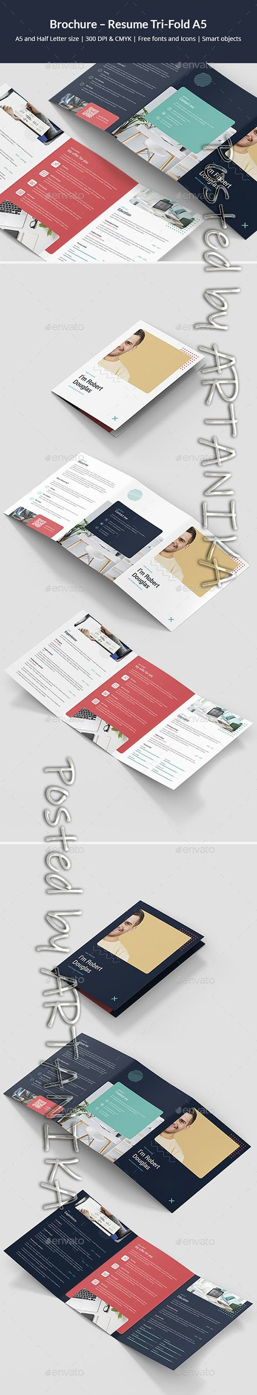 Brochure Resume Tri-Fold A5 24772483