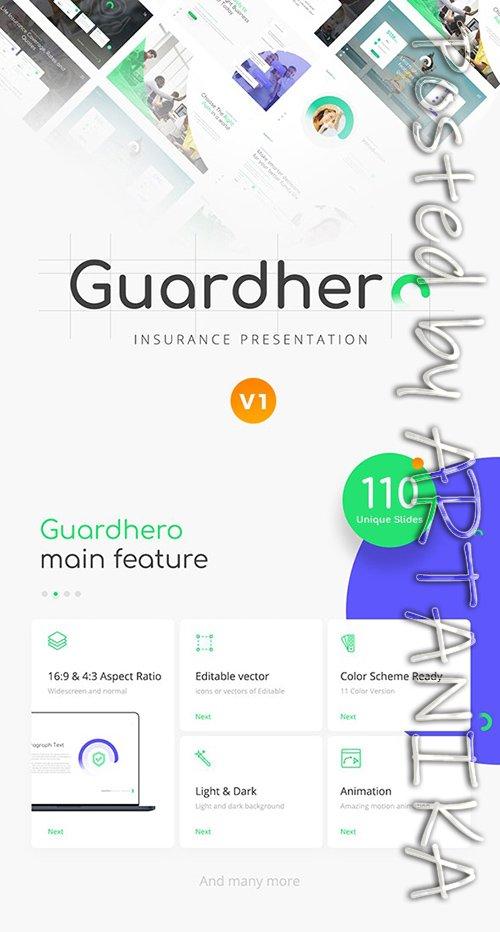 Guardhero Insurance PowerPoint Template 23711060