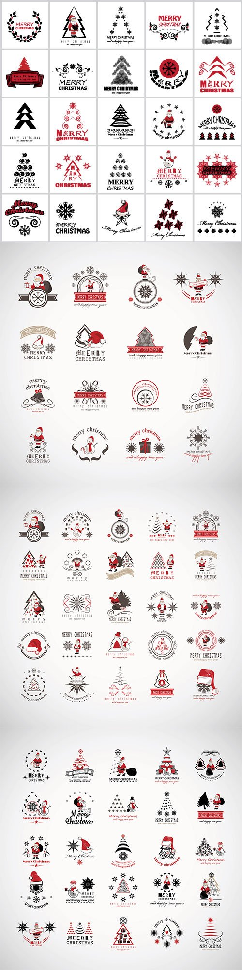Christmas icons and elements vector set