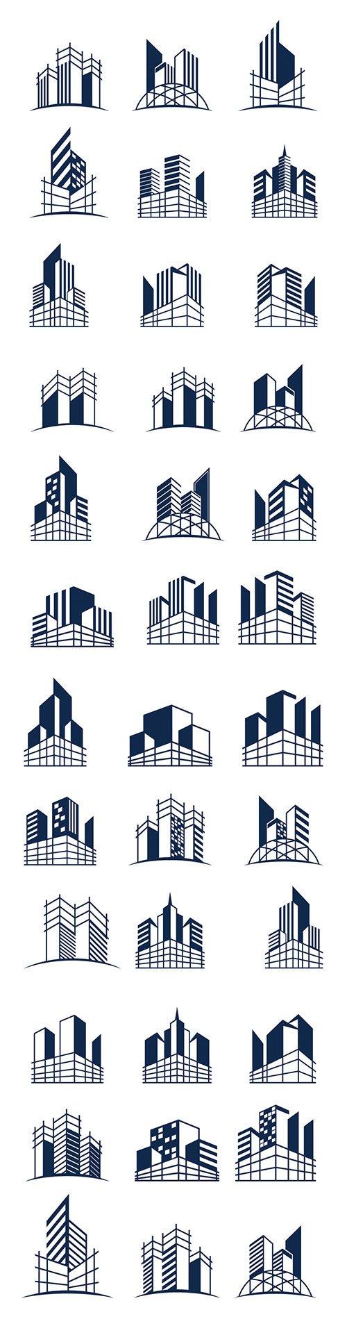 Building construction logo bundle