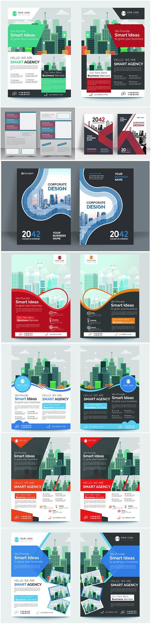 Corporate business vector template