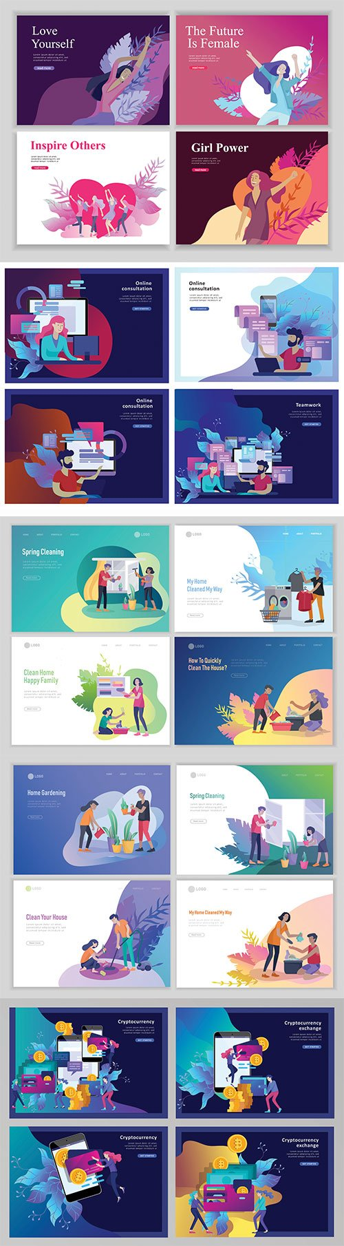 Website page isometric vector, flat banner concept