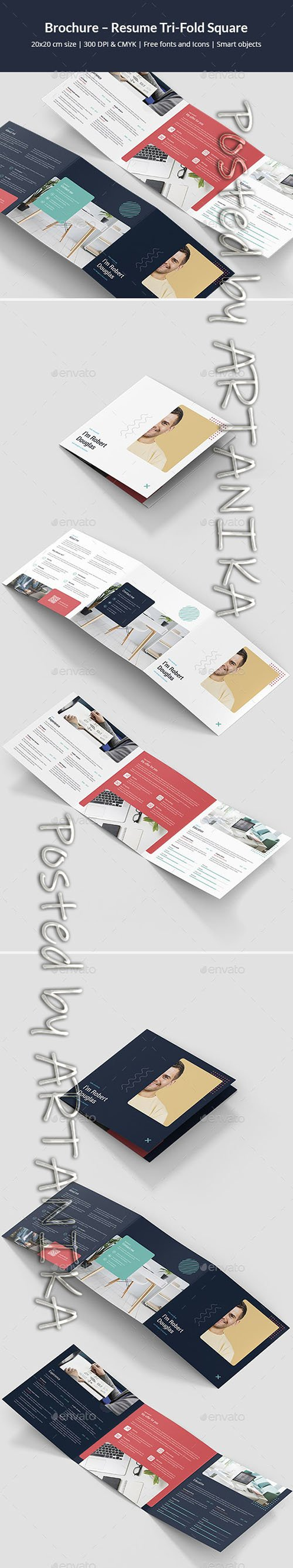 Brochure  Resume Tri-Fold Square 24770880