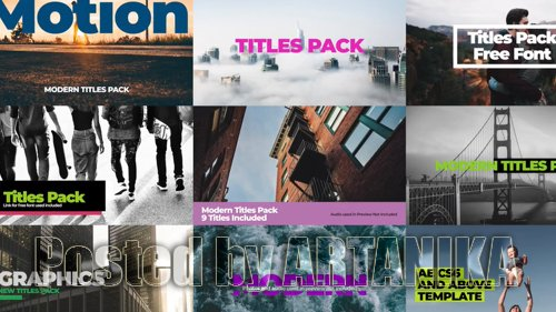 Modern Titles Pack III 199297