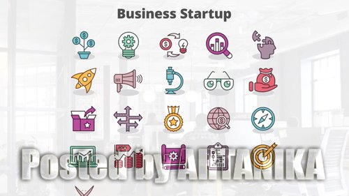 Business Startup - MOGRT Icons 181417