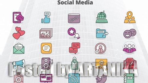 Social Media - MOGRT Icons 181434