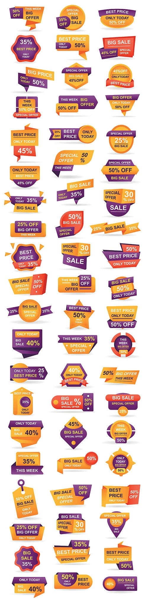 Stickers best offer price and big sale pricing tag