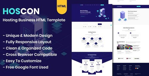 ThemeForest - Hoscon v1.0 - Hosting Business HTML Template - 24913720