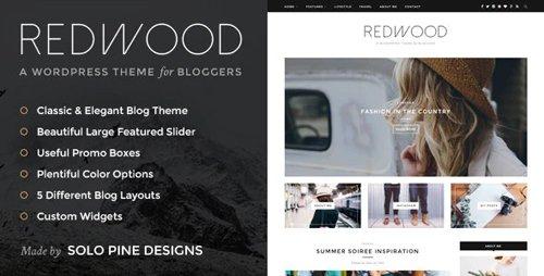 ThemeForest - Redwood v1.7.2 - A Responsive WordPress Blog Theme - 11811123
