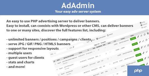 CodeCanyon - AdAdmin v3.80 - Easy adv server (adversting platform) - 12710605