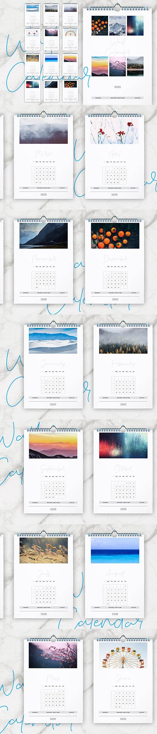 Wall Calendar 2020 Layout INDD