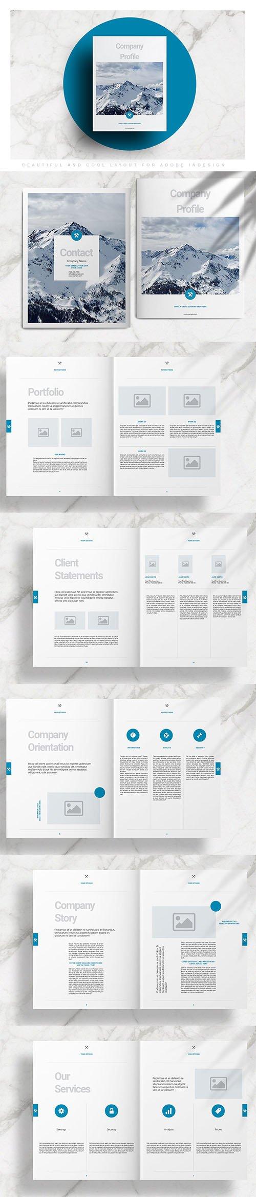 Blue Brochure Layout INDD