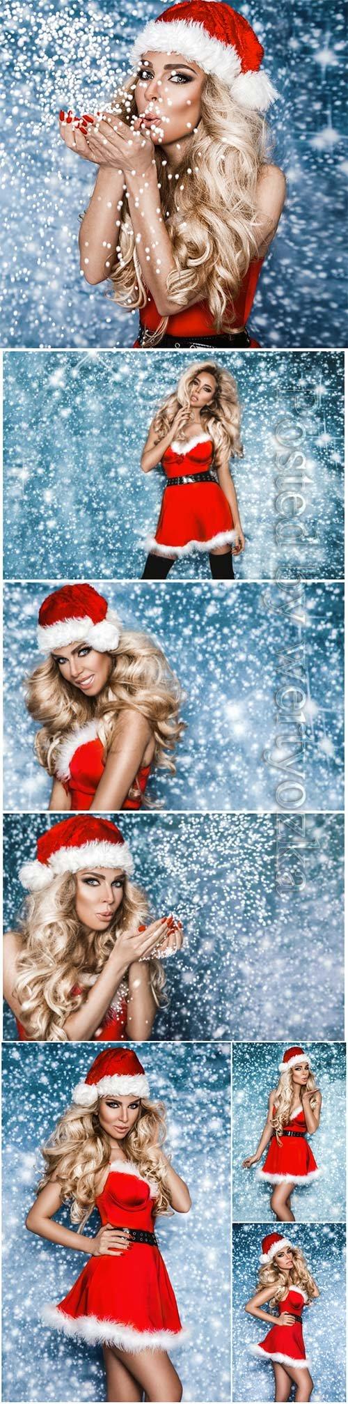 Beauty Christmas fashion model girl